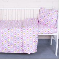 Постельное белье в детскую кроватку 92221 бязь ГОСТ с простыней на резинке