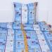 Постельное белье бязь 133/3 Стамбул голубой 1.5 сп с1-ой нав. 70/70