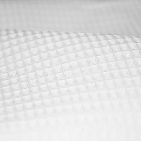 Ткань на отрез вафельное полотно отбеленное 150 см 240 гр/м2 ячейка 7х7 мм
