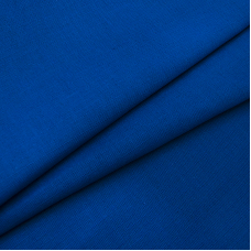 Ткань на отрез полулен 150 см 70014 цвет синий
