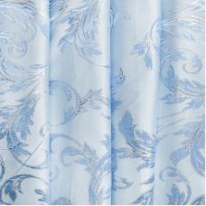 Портьерная ткань с люрексом 150 см Х7187 цвет 3 голубой ветка