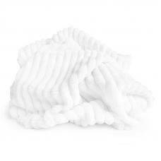 Плюш Минки Полоса Китай 180 см на отрез цвет белый