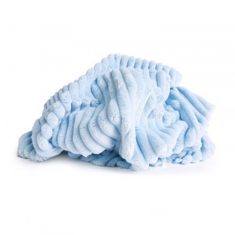 Плюш Минки Полоса Китай 180 см на отрез цвет голубой