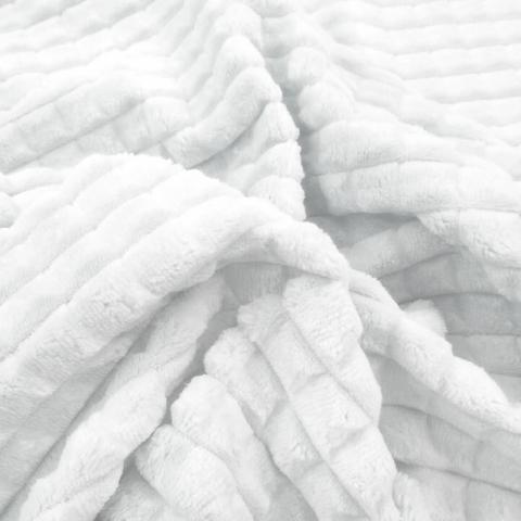 Плюш Минки Квадрат Китай 180 см на отрез цвет белый
